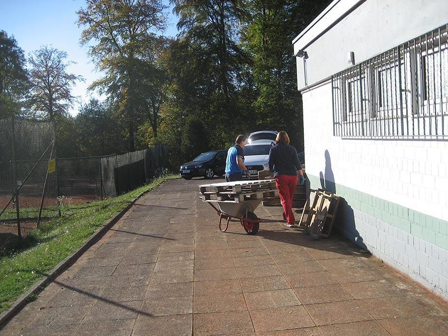 Vorbereitung der Außenanlage auf die Wintersaison II