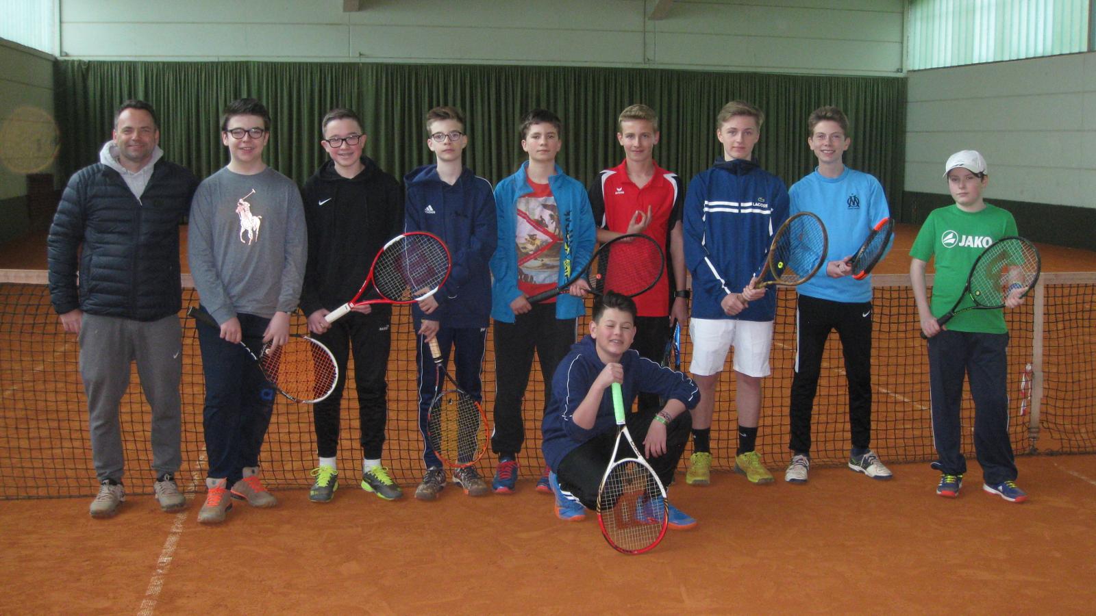 Mannschaft Junioren U15 1 und 2 des TC Nunkirchen
