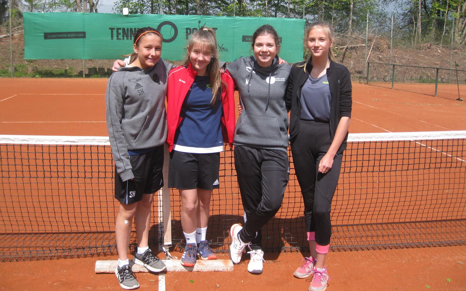 Mannschaft Juniorinnen U15/1 des TC Nunkirchen